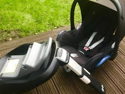 maxi cosi cabriofix group 0 car seat with maxi cosi familyfix isofix car seat base and free rear view mirror and pram adopters