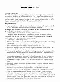 Dishwasher Job Description Cool Job Description Of An Optician Fresh Dishwasher Job Description For