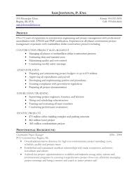 It Project Manager Resume Sample It Project Manager Resume Sample Doc Sidemcicek Com Construction 41