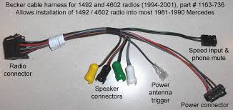 93 300e need help w wiring diagram for radio mbworld org forums but if you can t please just carefully tee splice into the existing wires out snipping off the factory plugs that way it will be reversible