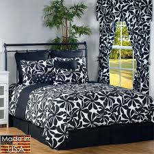black and white bed sets twirl twin comforter set photo 1 bedding double black and white bed sets east gray