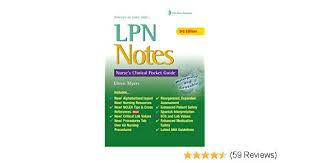 Lpn Notes Nurses Clinical Pocket Guide Daviss Notes
