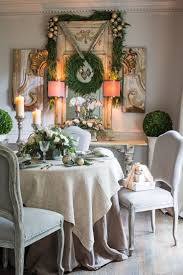 Deck the Halls: French cottage style dining offering charming fresh-cut  greenery and prized keepsakes.