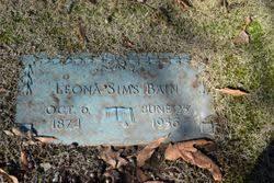 Leona Sims Bain (1874-1956) - Find A Grave Memorial