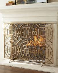 beauteous wrought iron fireplace screen