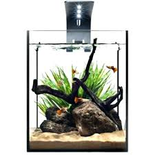 desk fish tank office aquarium desktop kit with led lighting 5 hutch used