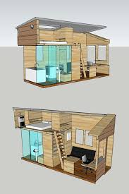 Floor Plan: interior plan for a tiny house, to be built on an 8 x 20 trailer