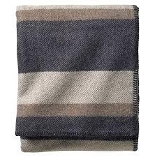 washable wool blanket. Beautiful Blanket Pendleton Ecowise Midnight Navy Stripe Washable Wool Blanket Throughout L