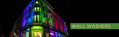 led wall washers and exterior lights