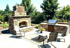 outdoor fireplace with pizza oven plans combo kits