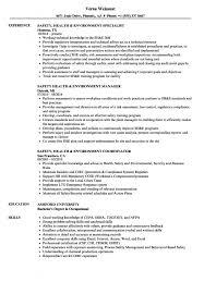 Safety Officer Resume Sample Occupational Health And Safety Officer Resume Samples Sample Resume