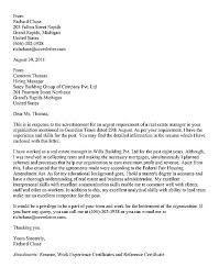 Real Estate Appraiser Cover Letter Real Estate Manager Cover Letter