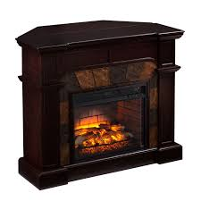 harper blvd hollandale classic espresso faux stone infrared fireplace os7829if brown glass