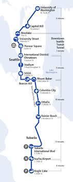 Downtown Seattle Light Rail Map Seattle Light Rail Map Light Rail Kartta Seattle
