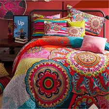 boho style bedding sets queen size 4pcs previous