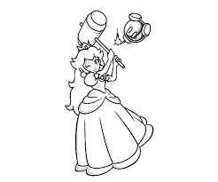 Small Picture Mario Princess Coloring Pages Mario Princess Coloring Pages