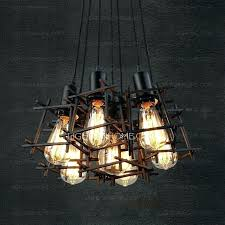 industrial lighting fixtures. Industrial Lighting Fixtures For Home 7 Light Hardware Square Shaped Shade