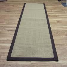 sisal hallway runners in linen with a chocolate brown border luxury sisal rug uk