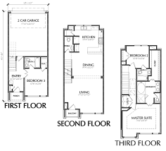 3 Story Townhouse Floor Plan For Sale In Houston  Townhouse Three Story Floor Plans