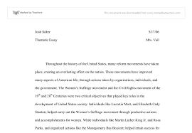 thematic essay gcse history marked by teachers com document image preview