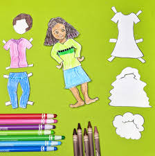 Search through 51968 colorings, dot to dots, tutorials and silhouettes. Paper Doll Coloring Pages Design Your Own Version