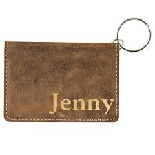 add to my lists leather keychain wallet personalized
