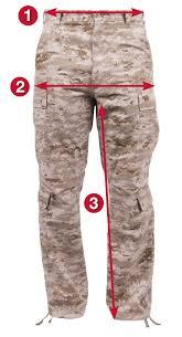 Rothco Pants Size Chart Rothco Vintage Paratrooper Fatigue Pants