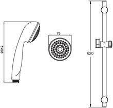 <b>Душевой гарнитур Shower</b> Shpere Set, арт. SSS751 купить по ...