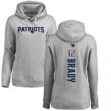 Patriots Women's New Brady Tom Pullover Line England Pro Ash Hoodie Backer