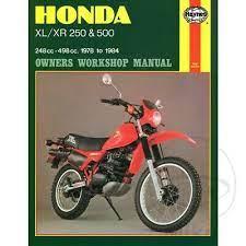 honda xl 500 s 1981 1982 haynes service