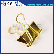 Paper Holder Clips Christmas Gifts Solid Color Gold Metal Binder Clips Notes Letter