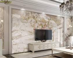 Beibehang Custom Wallpaper Mural European Luxury Jazz White Marble