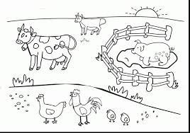Fresh Farm Coloring Pages Preschool Printable Page Pictures Free