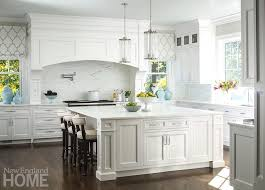 Large White Kitchen Island with Robert Abbey Cole Light Pendant
