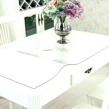 clear plastic table cover round clear plastic