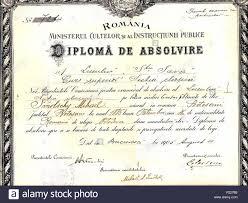 Saint Sava High School Graduation Diploma Awarded To The