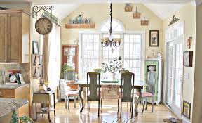 Kitchen:French Country Style Kitchens With Vintage Decoration Idea Kitchen  French Country Style With Wooden
