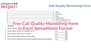 Evaluation Chart Sample Free Call Monitoring Evaluation And Coaching Form