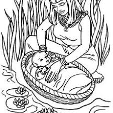 Fashionable Baby Moses Coloring Page Awesome Bible Free Pages