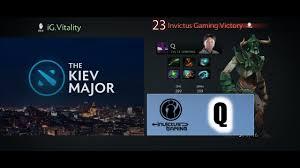 dota 2 kiev major 2017 cn playoff ig q undying youtube