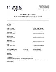 resume help magna talent agency .