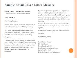 How To Put Together A Resume And Cover Letter 8 Sample Email Cover