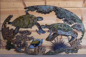 sea turtle outdoor wall art