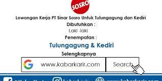 Lowongankerja15.com, lowongan kerja telkom indonesia group bulan januari 2020. Lowongan Kerja Pt Sinar Sosro Untuk Tulungagung Dan Kediri