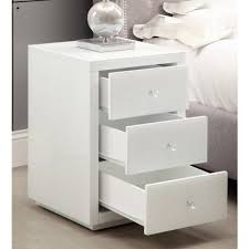 vegas white glass mirrored bedside tables. VEGAS White Glass Mirrored Bedside Table - Mirror Furniture Vegas Tables T