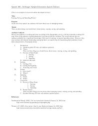 Demonstration Speech Outline Demonstrative Speech Essay