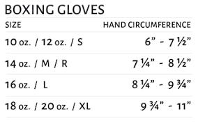 Kids Boxing Gloves Size Chart Bedowntowndaytona Com
