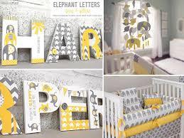 gray themed nursery bedding fresh yellow grey elephant nursery letters bb