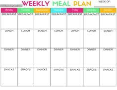 Menu Planning Template Printable 30 Family Meal Planning Templates Weekly Monthly Budget Tip Junkie
