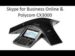 skype for business in office 365 anbinden eines polycom cx3000 konferenztelefones